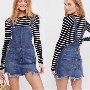 Free People Denim 'Torn Up' Jumper Overall Dress